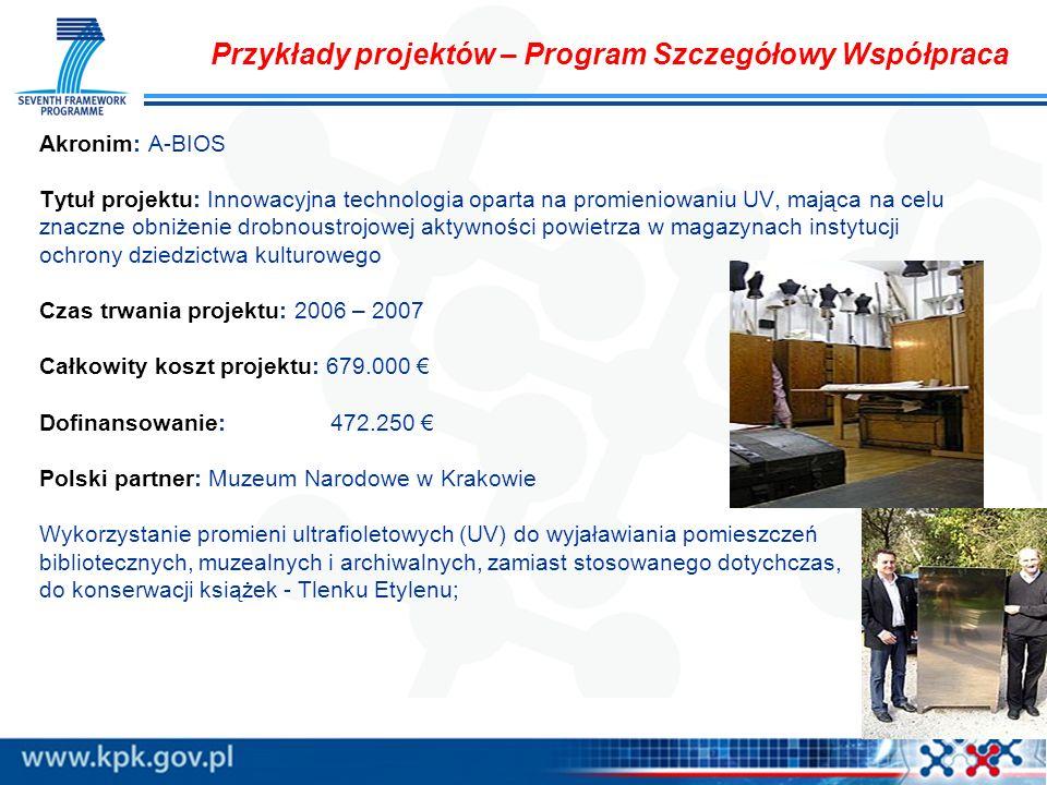 Przykłady projektów – Program Szczegółowy Współpraca
