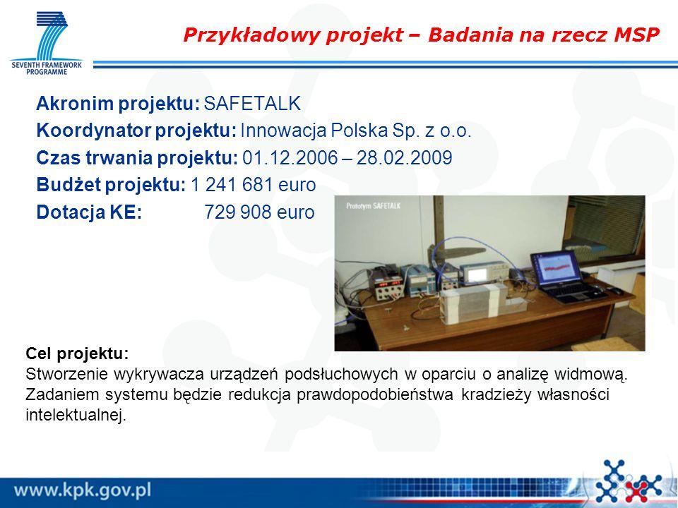Przykładowy projekt – Badania na rzecz MSP
