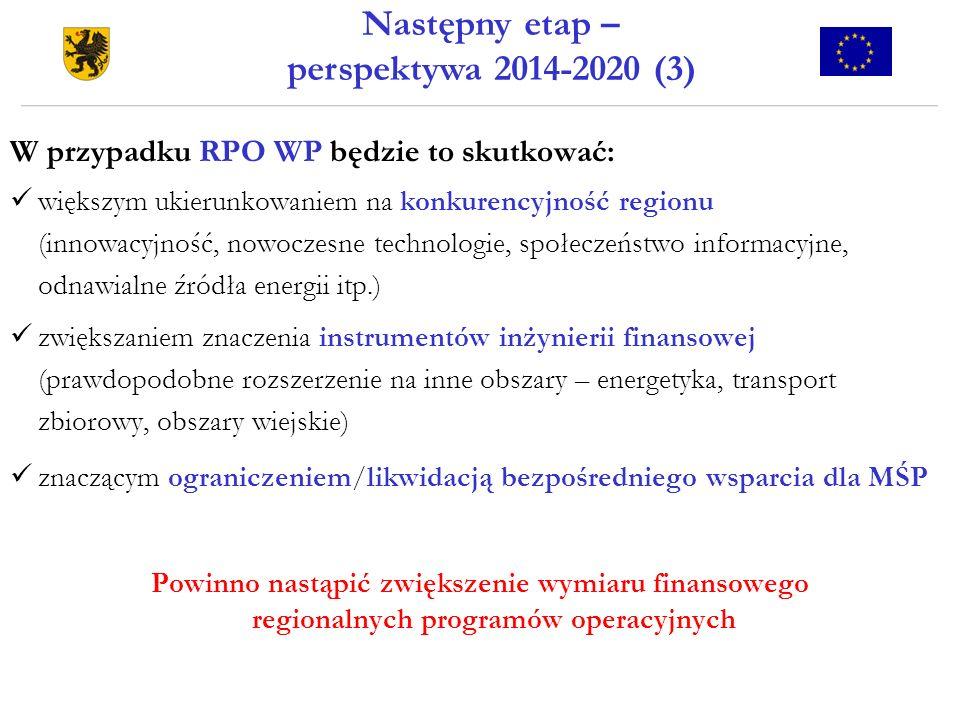 Następny etap – perspektywa 2014-2020 (3)