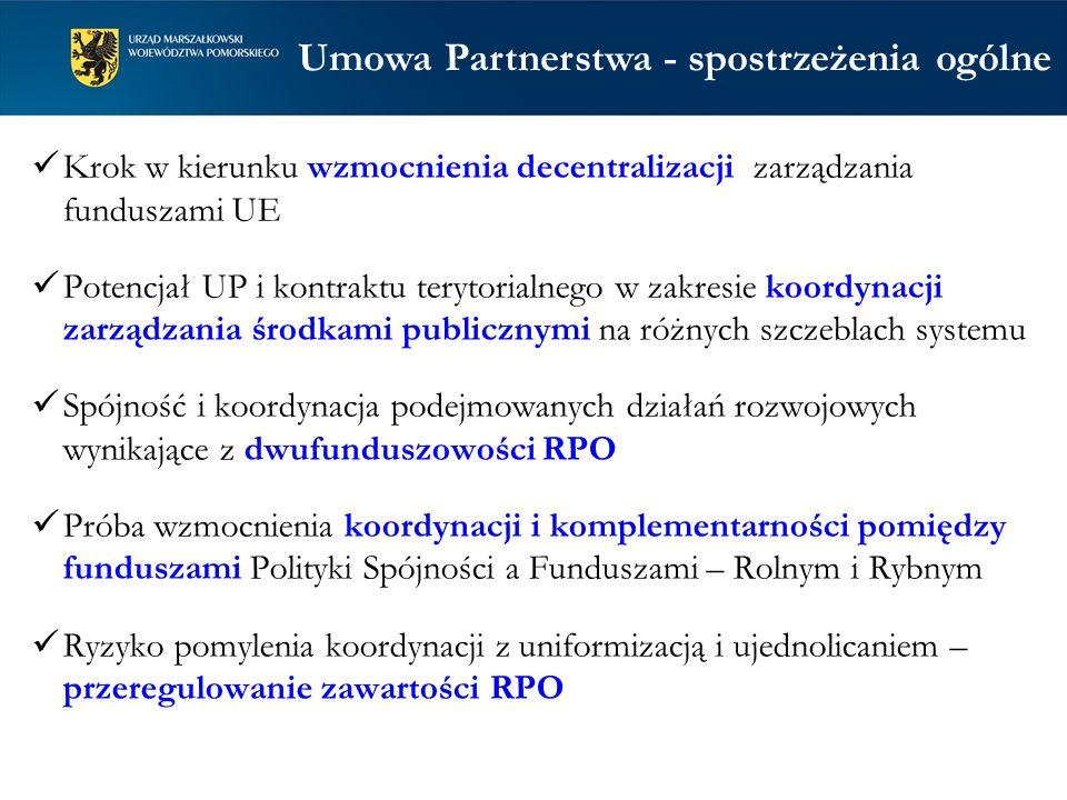 Umowa Partnerstwa - spostrzeżenia ogólne