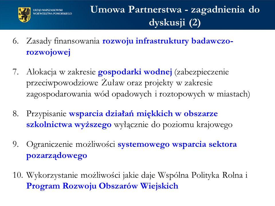 Umowa Partnerstwa - zagadnienia do dyskusji (2)