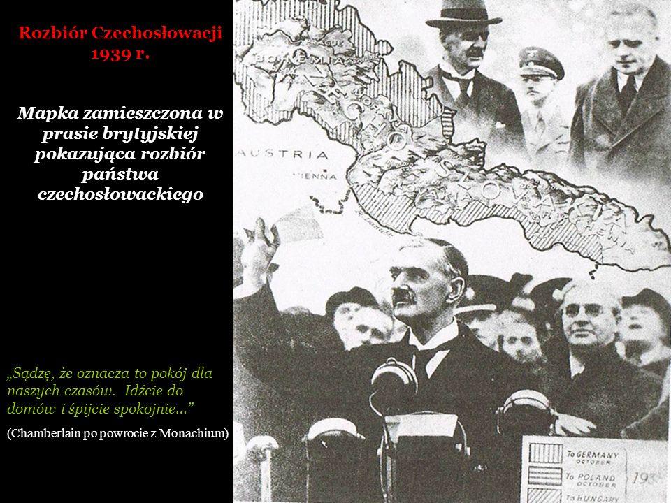 Rozbiór Czechosłowacji 1939 r.