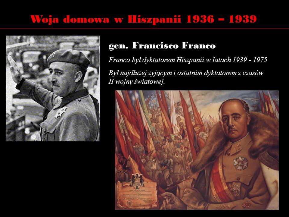 Woja domowa w Hiszpanii 1936 – 1939