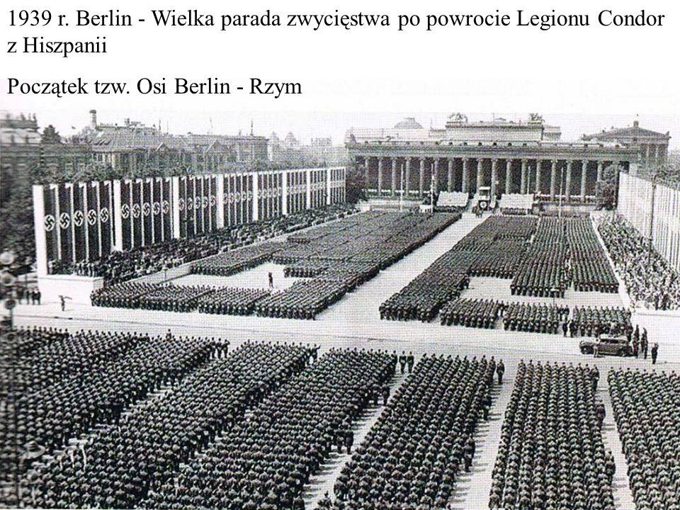 1939 r. Berlin - Wielka parada zwycięstwa po powrocie Legionu Condor z Hiszpanii