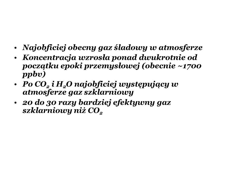 Najobficiej obecny gaz śladowy w atmosferze