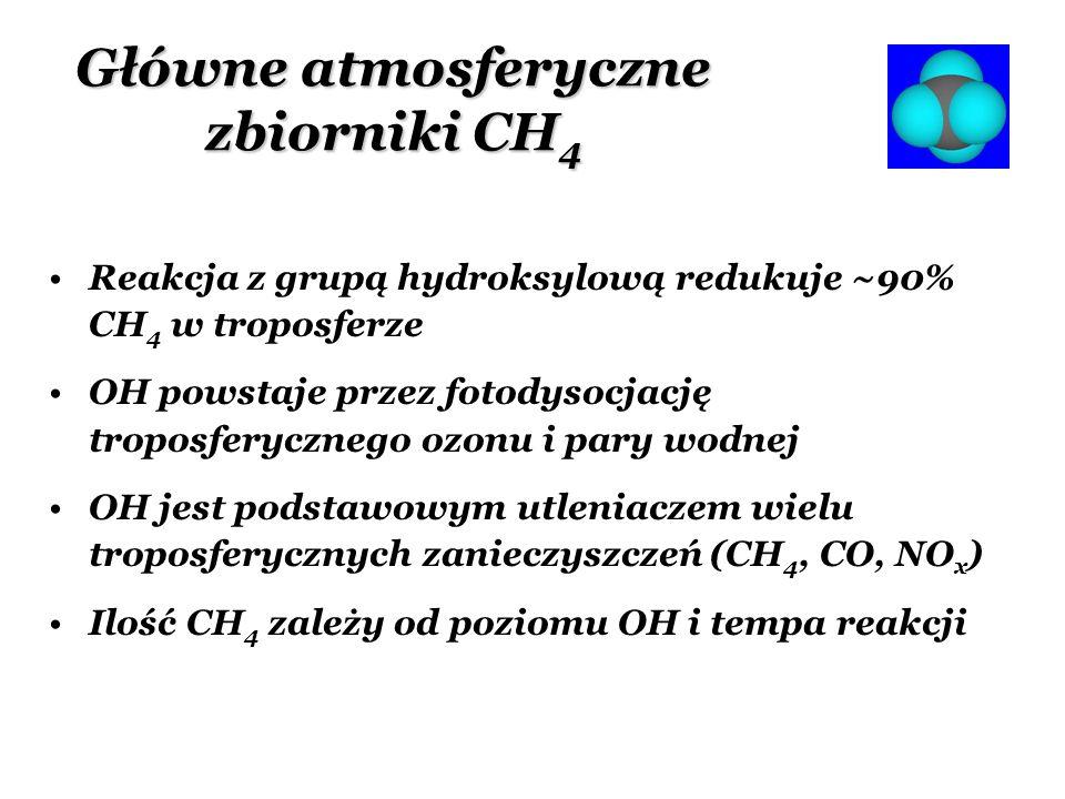 Główne atmosferyczne zbiorniki CH4