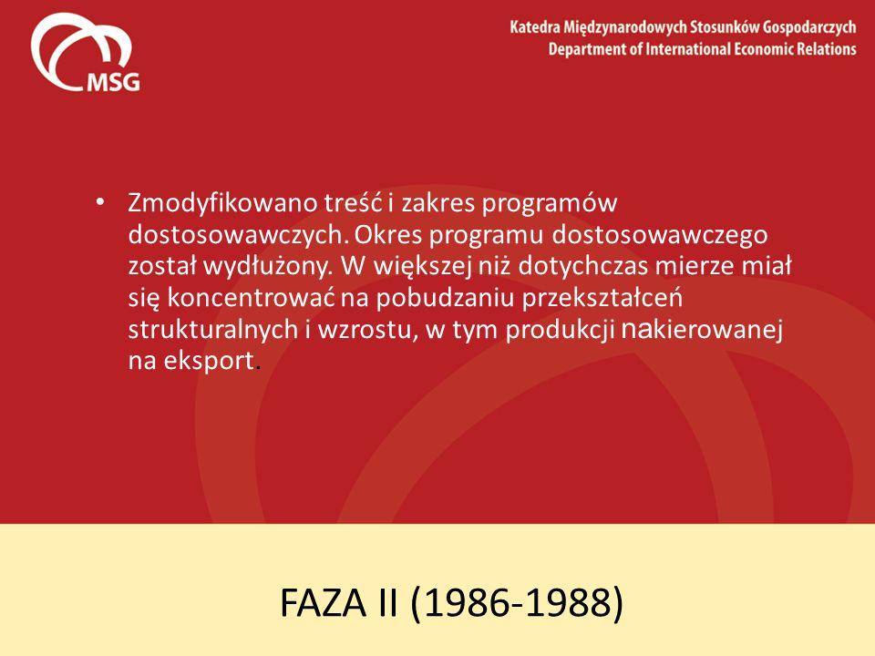 Zmodyfikowano treść i zakres programów dostosowawczych