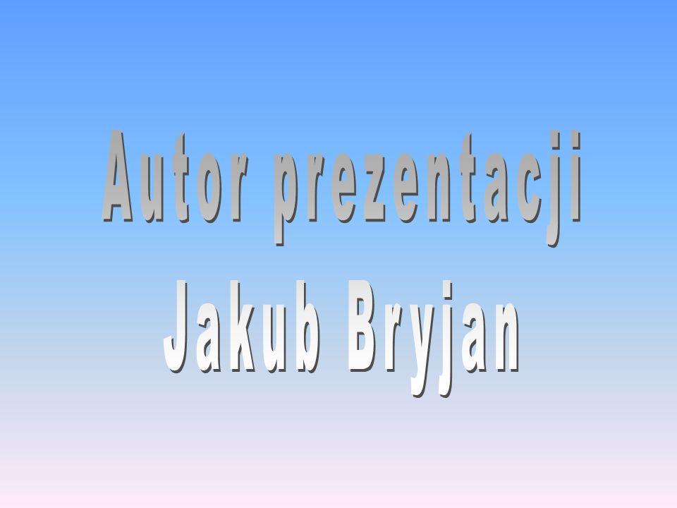 Autor prezentacji Jakub Bryjan