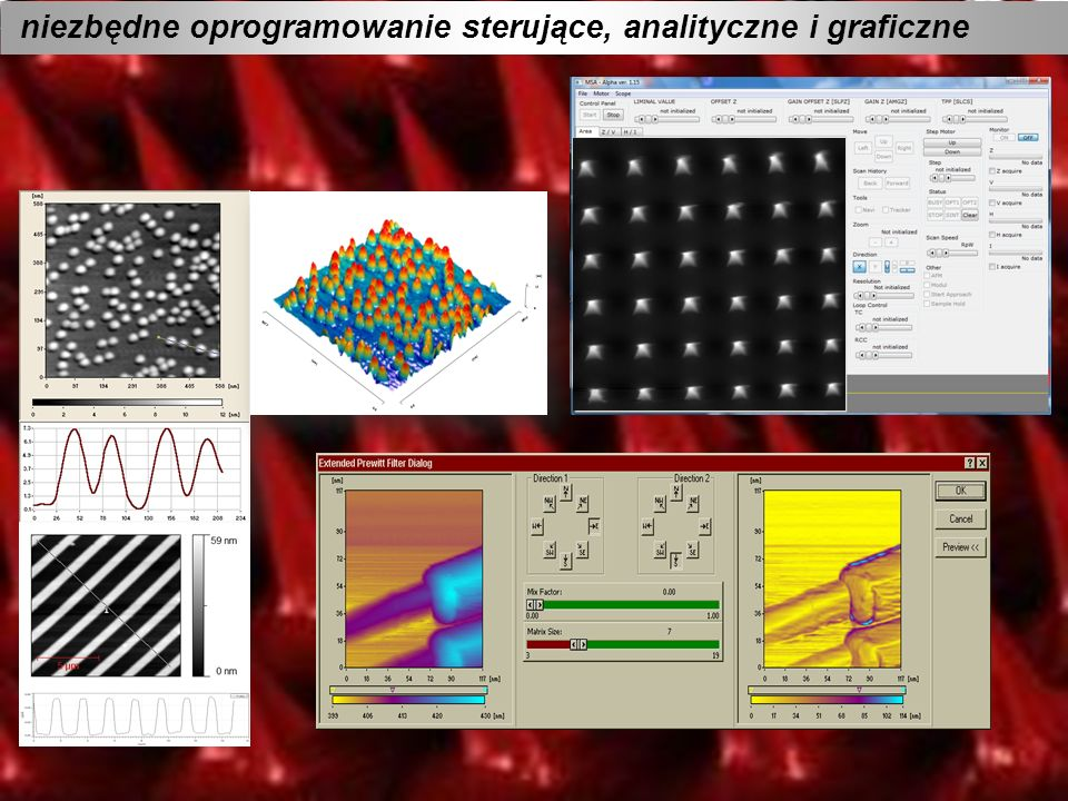 niezbędne oprogramowanie sterujące, analityczne i graficzne
