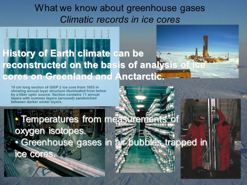 What we know about greenhouse gases Climatic records in ice cores