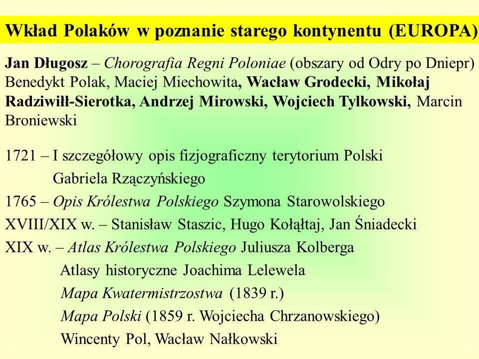 Wkład Polaków w poznanie starego kontynentu (EUROPA)