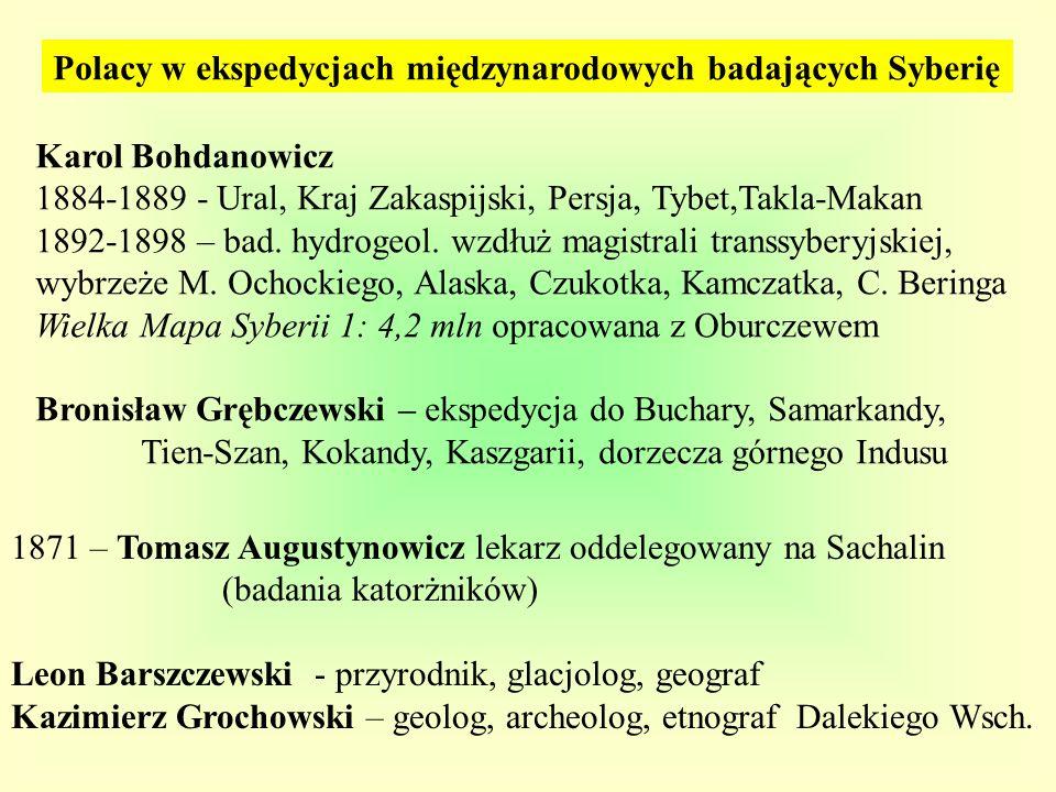 Polacy w ekspedycjach międzynarodowych badających Syberię