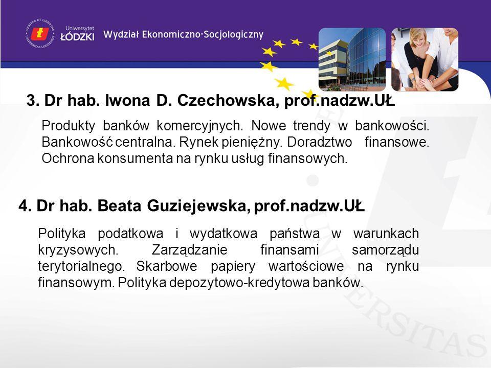 4. Dr hab. Beata Guziejewska, prof.nadzw.UŁ