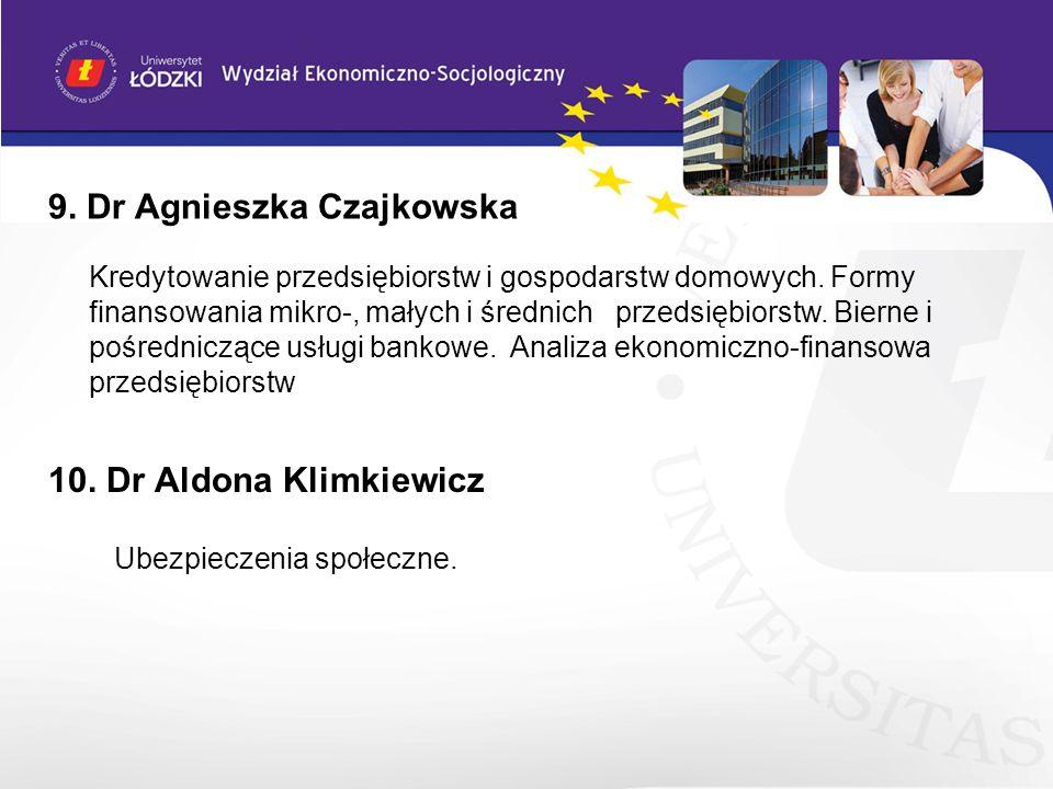 9. Dr Agnieszka Czajkowska