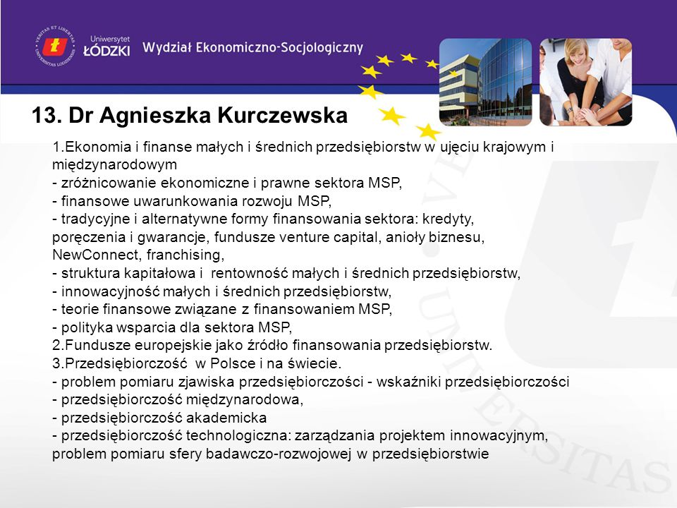 13. Dr Agnieszka Kurczewska
