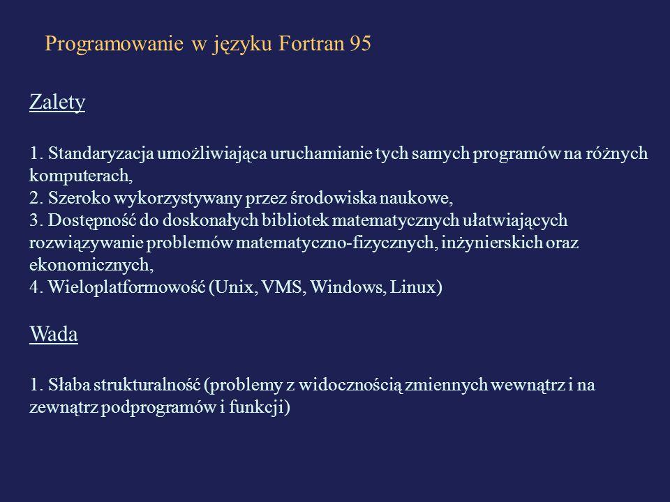 Programowanie w języku Fortran 95