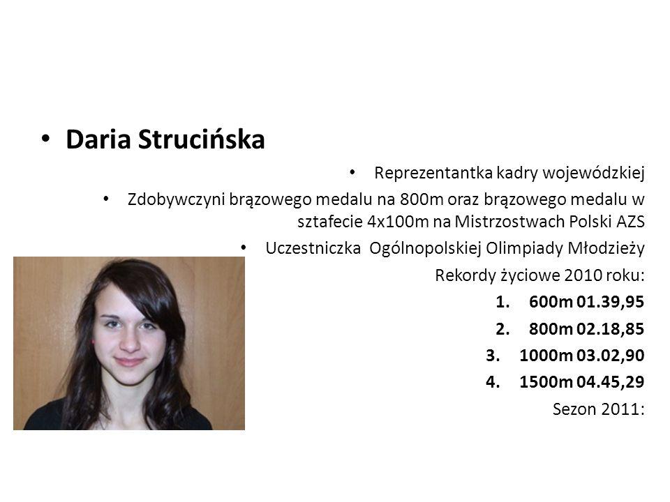 Daria Strucińska Reprezentantka kadry wojewódzkiej