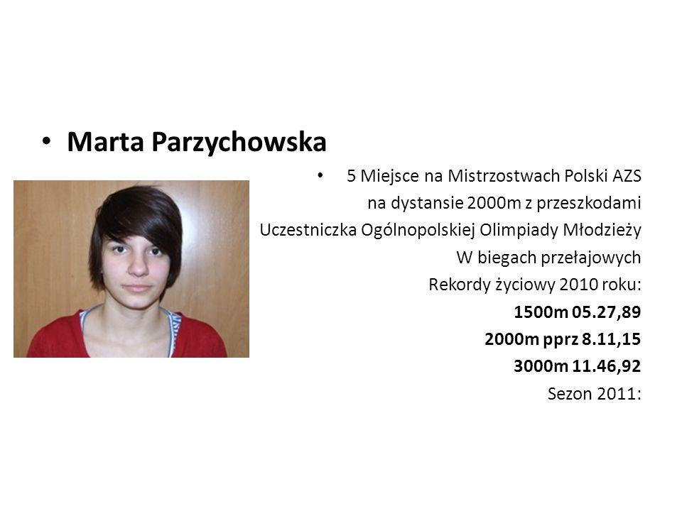 Marta Parzychowska 5 Miejsce na Mistrzostwach Polski AZS