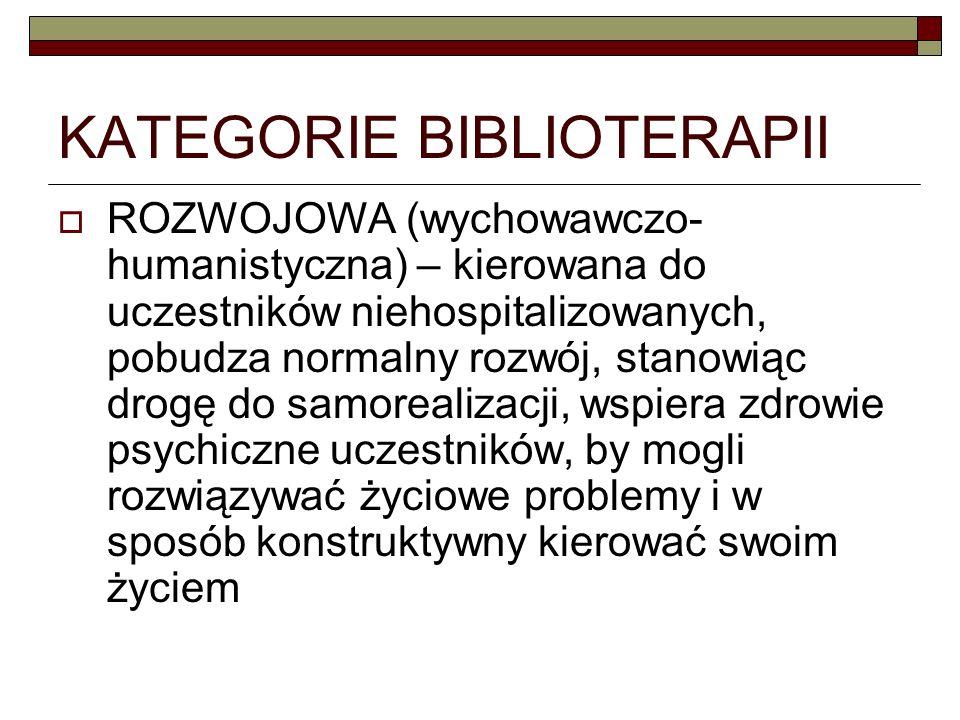 KATEGORIE BIBLIOTERAPII