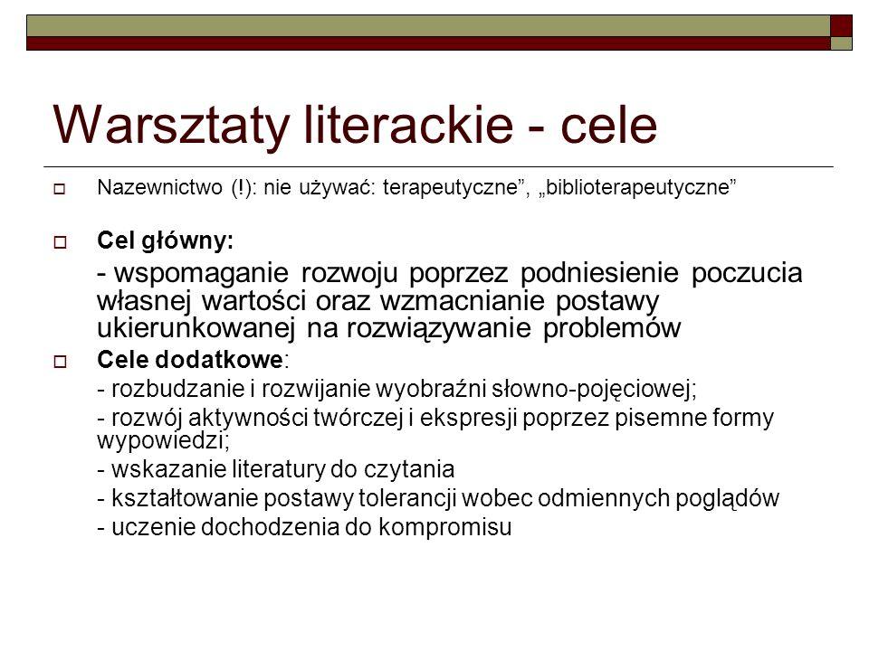 Warsztaty literackie - cele