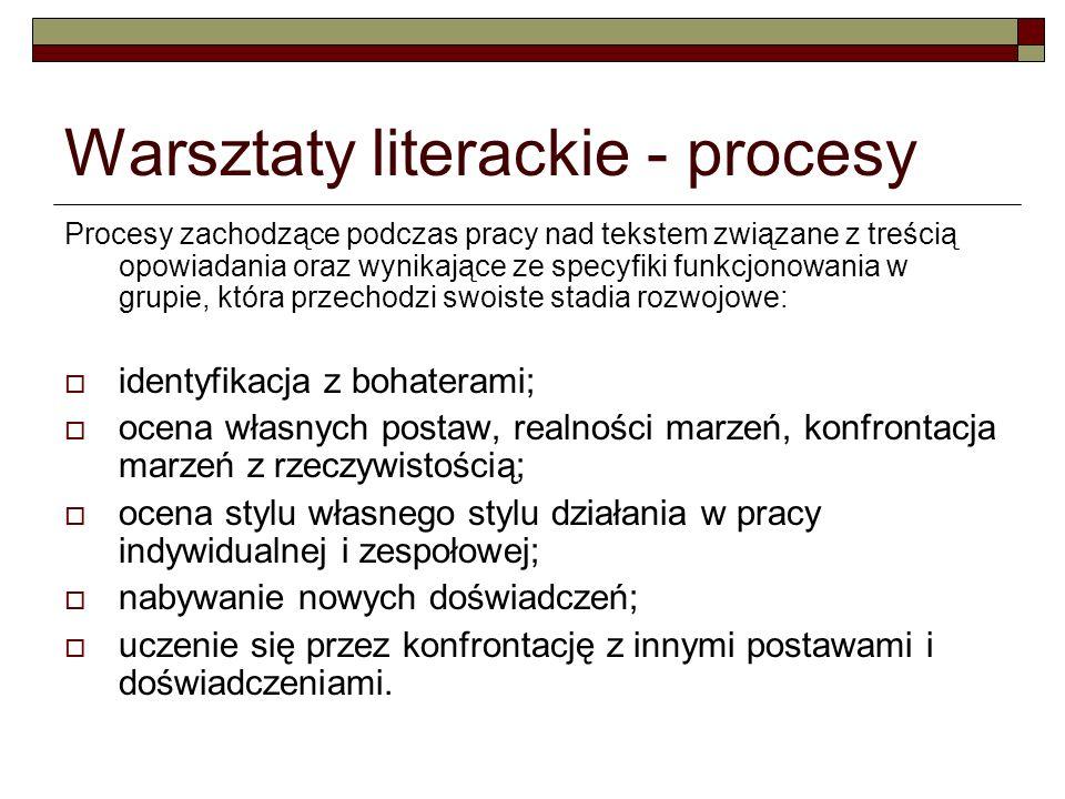 Warsztaty literackie - procesy
