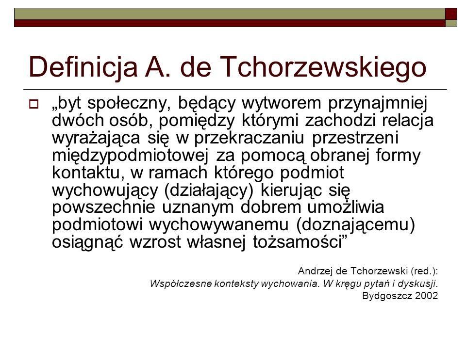 Definicja A. de Tchorzewskiego