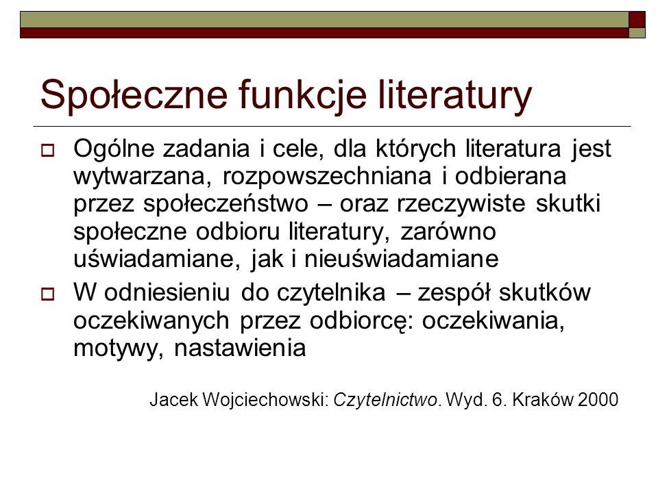 Społeczne funkcje literatury