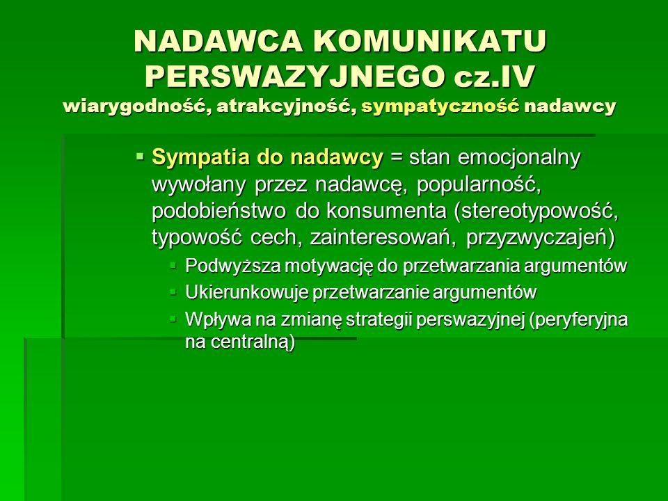 NADAWCA KOMUNIKATU PERSWAZYJNEGO cz