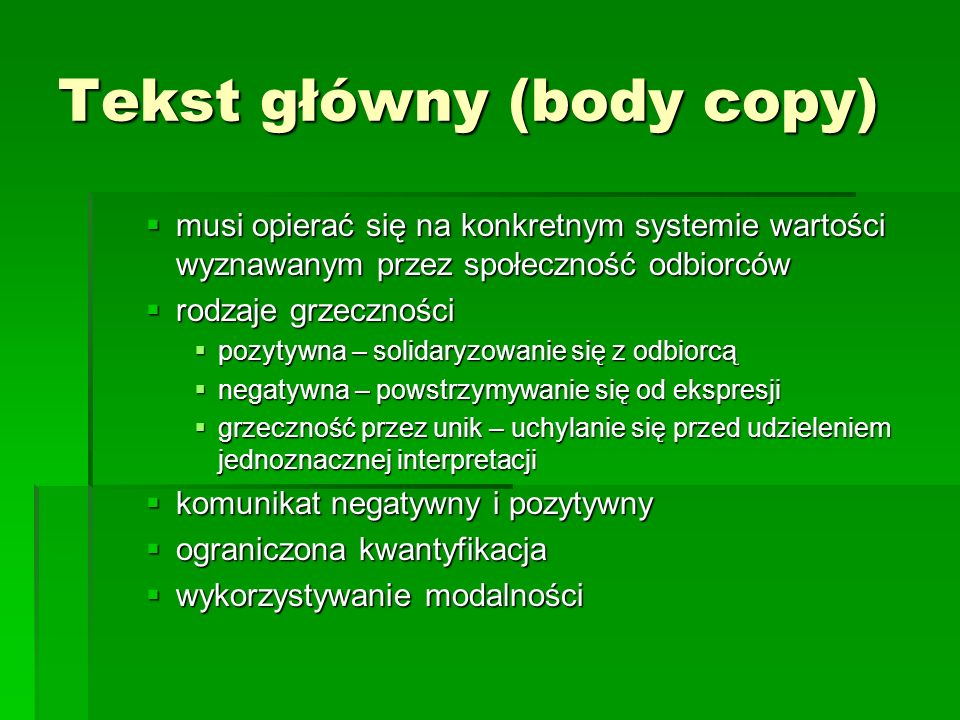 Tekst główny (body copy)