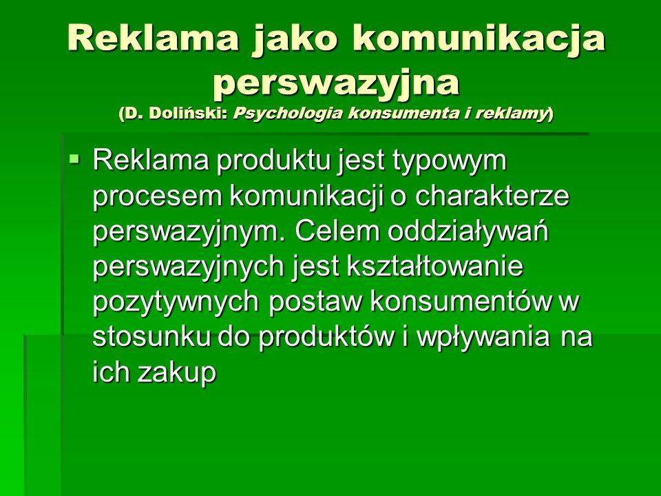 Reklama jako komunikacja perswazyjna (D