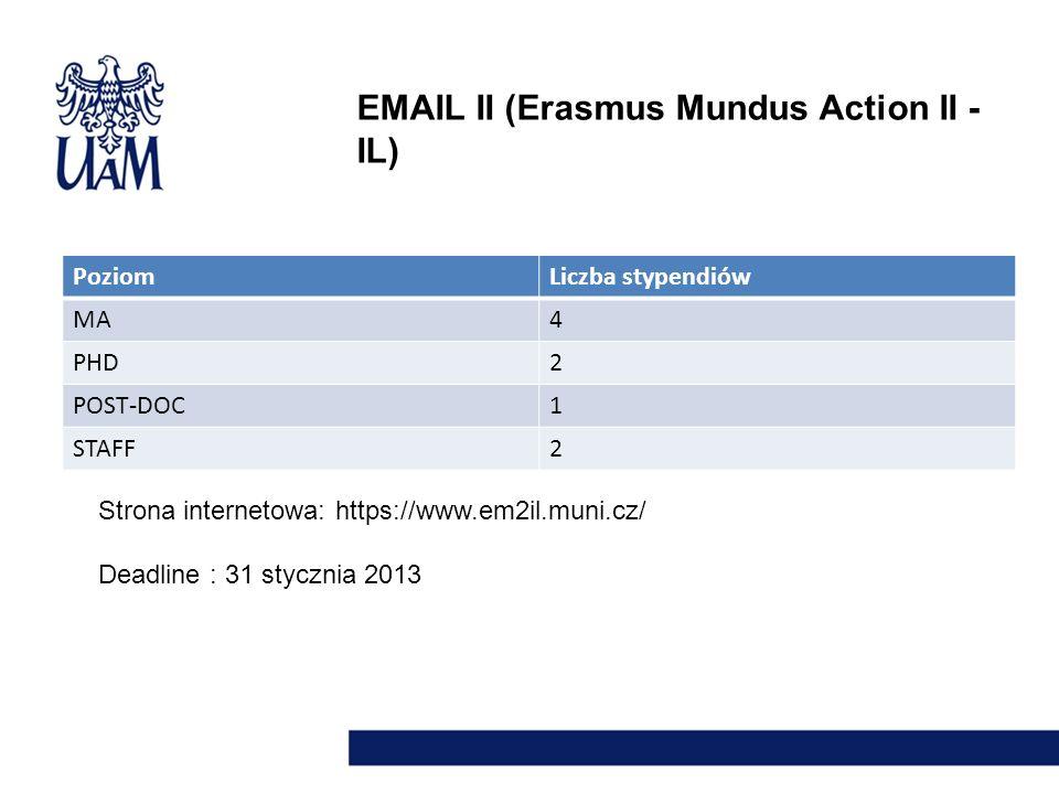 EMAIL II (Erasmus Mundus Action II - IL)