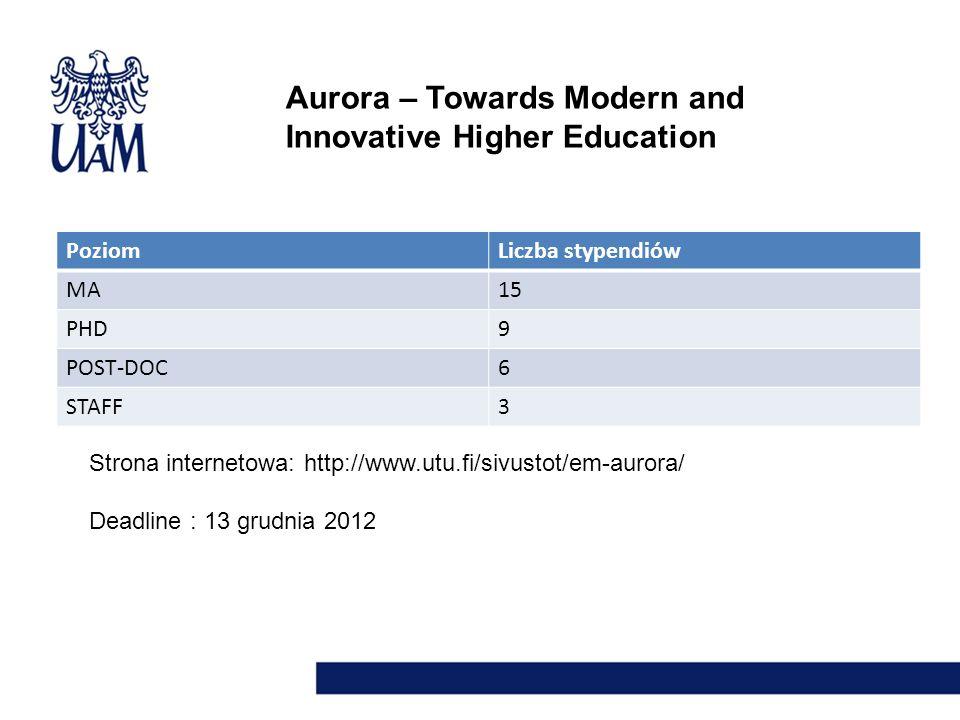 Aurora – Towards Modern and Innovative Higher Education