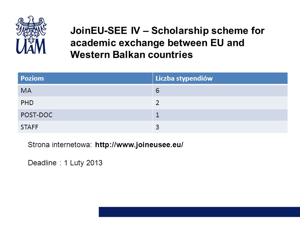 JoinEU-SEE IV – Scholarship scheme for academic exchange between EU and Western Balkan countries