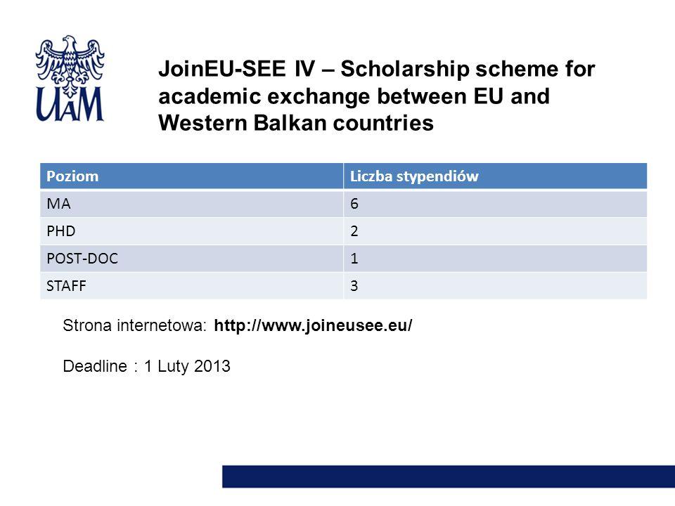 JoinEU-SEE IV – Scholarship scheme for academic exchange between EU and Western Balkan countries