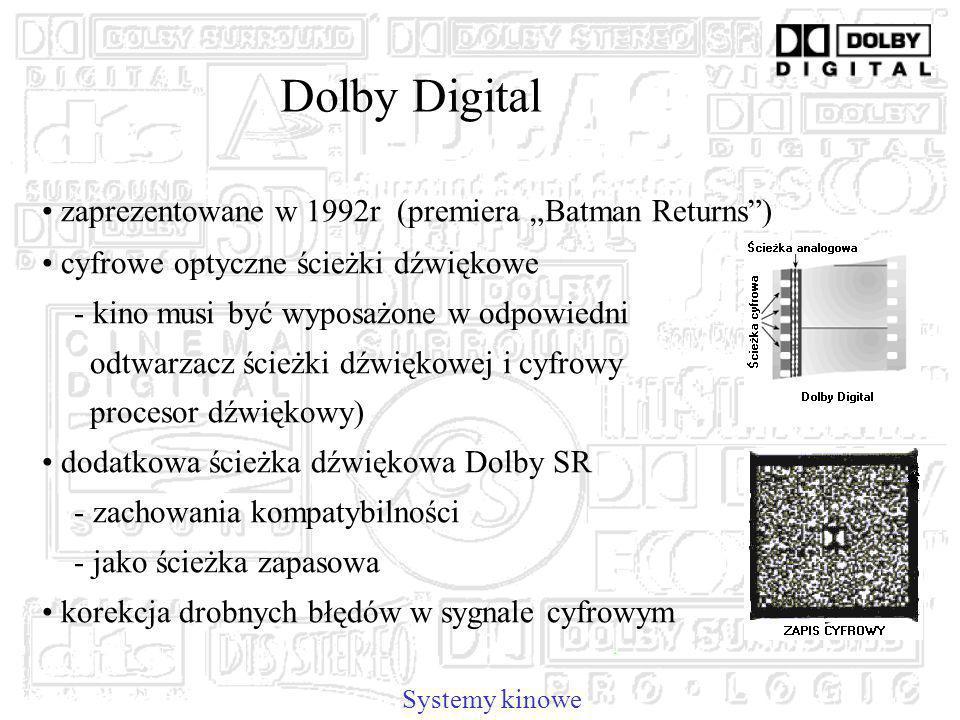 """Dolby Digital zaprezentowane w 1992r (premiera """"Batman Returns )"""