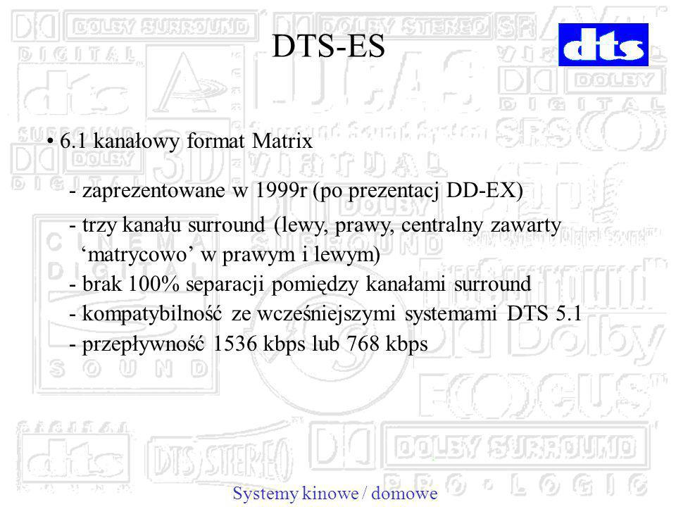 DTS-ES 6.1 kanałowy format Matrix