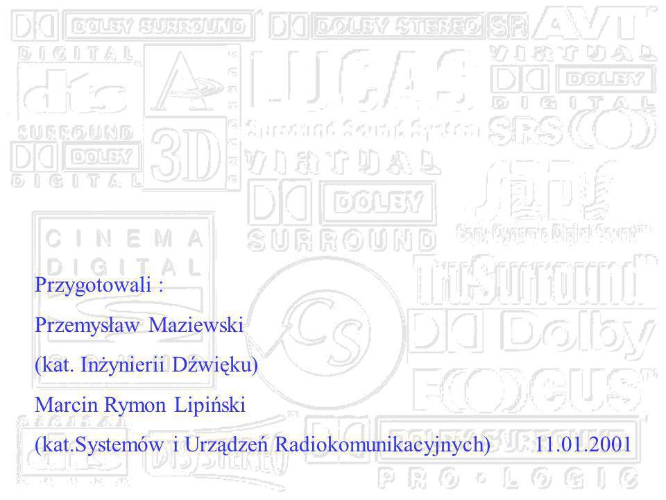 Przygotowali : Przemysław Maziewski. (kat. Inżynierii Dźwięku) Marcin Rymon Lipiński.