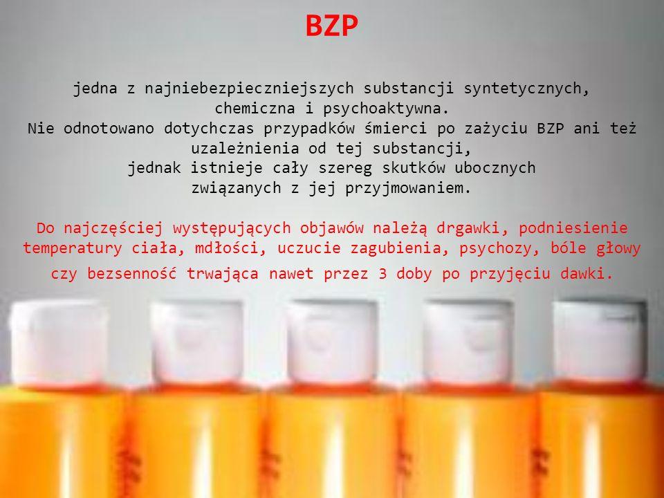 BZP jedna z najniebezpieczniejszych substancji syntetycznych, chemiczna i psychoaktywna.
