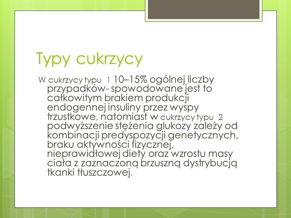 Typy cukrzycy