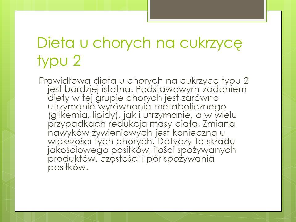 Dieta u chorych na cukrzycę typu 2