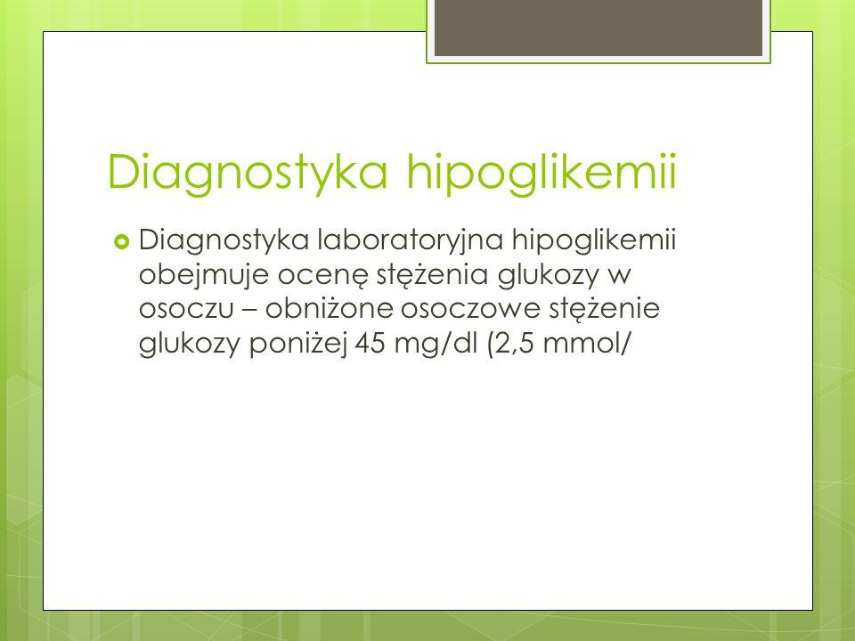 Diagnostyka hipoglikemii