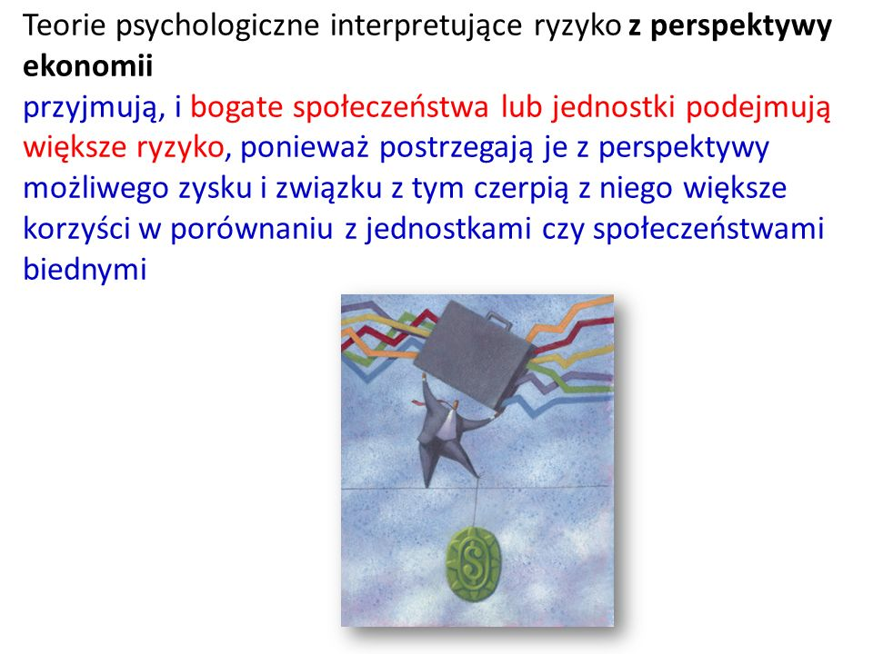 Teorie psychologiczne interpretujące ryzyko z perspektywy ekonomii