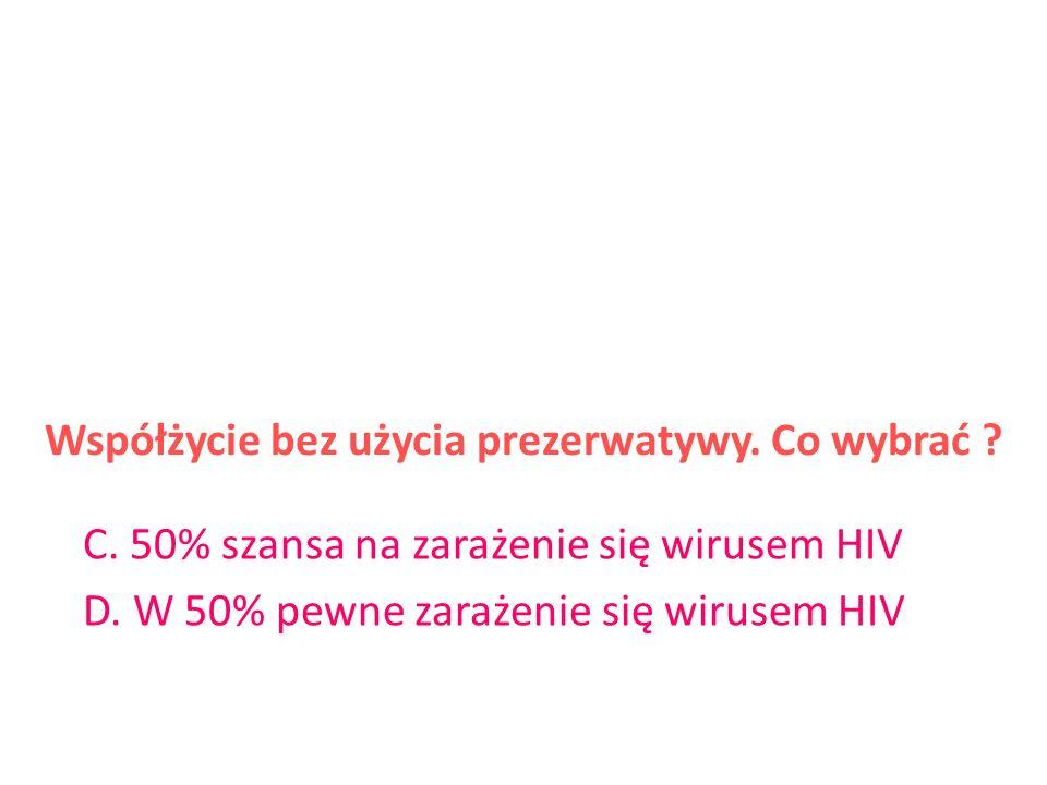 Współżycie bez użycia prezerwatywy. Co wybrać