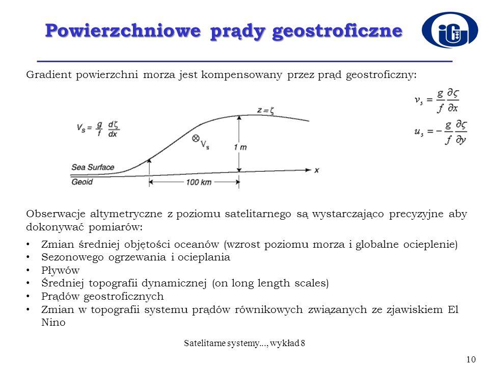 Powierzchniowe prądy geostroficzne