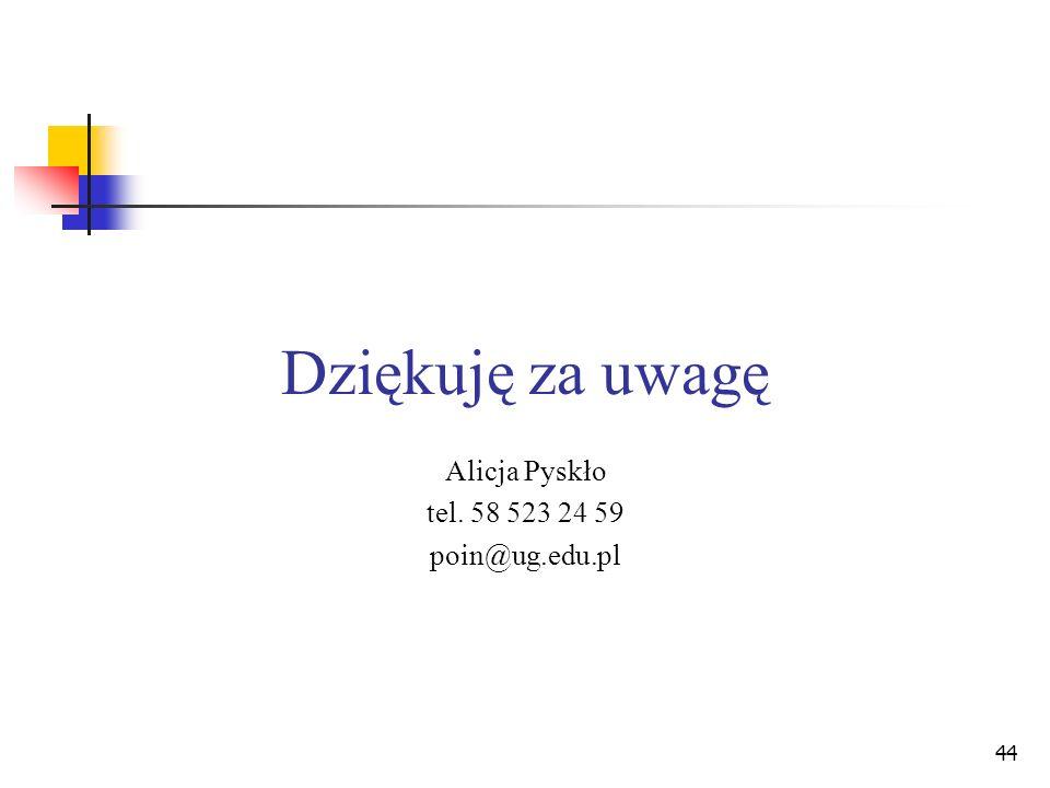 Alicja Pyskło tel. 58 523 24 59 poin@ug.edu.pl