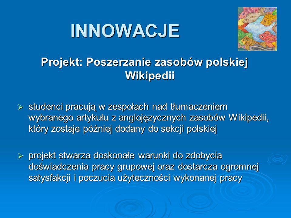 Projekt: Poszerzanie zasobów polskiej Wikipedii