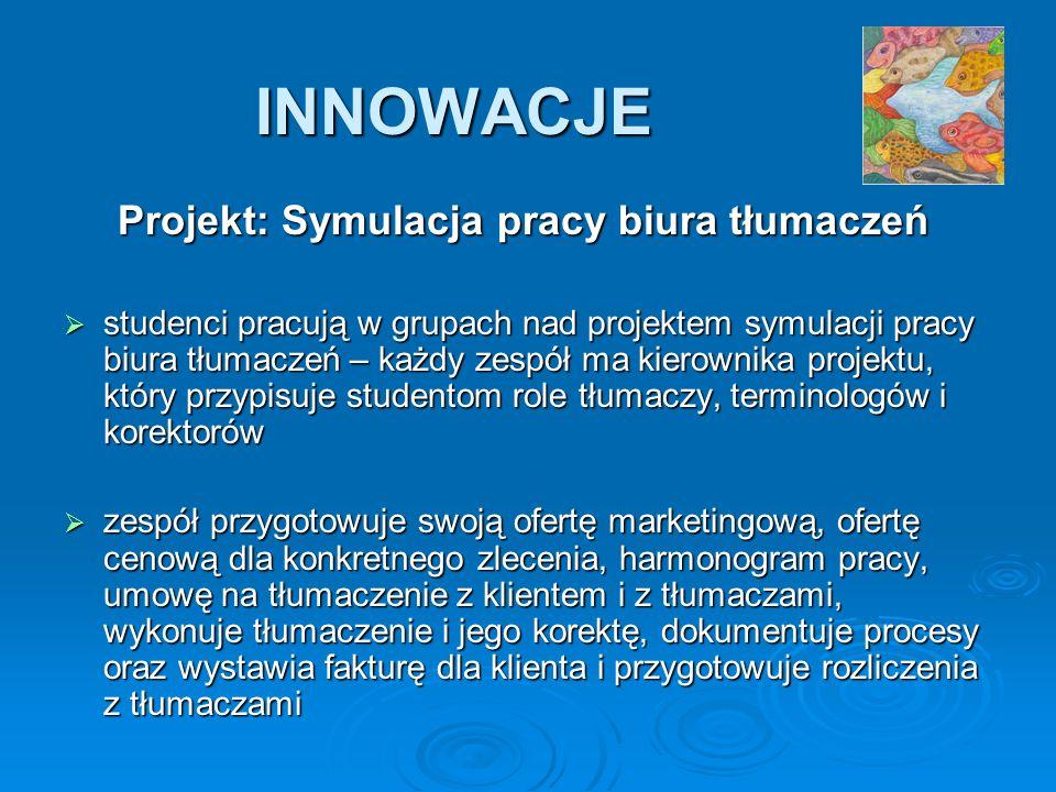 Projekt: Symulacja pracy biura tłumaczeń