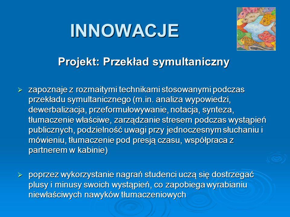 Projekt: Przekład symultaniczny