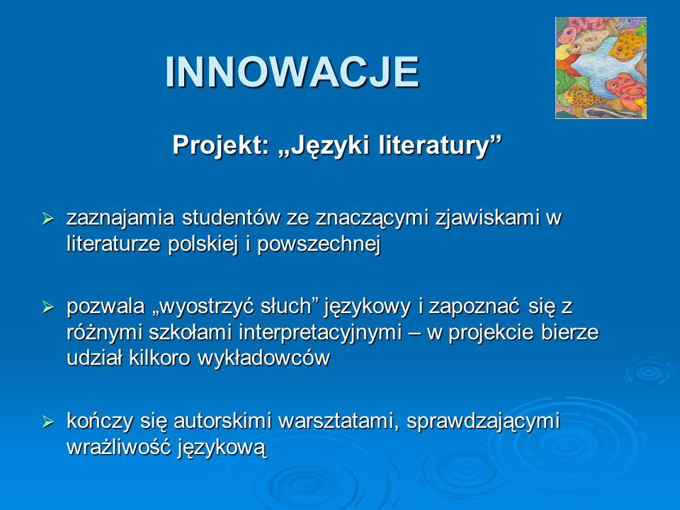 """Projekt: """"Języki literatury"""