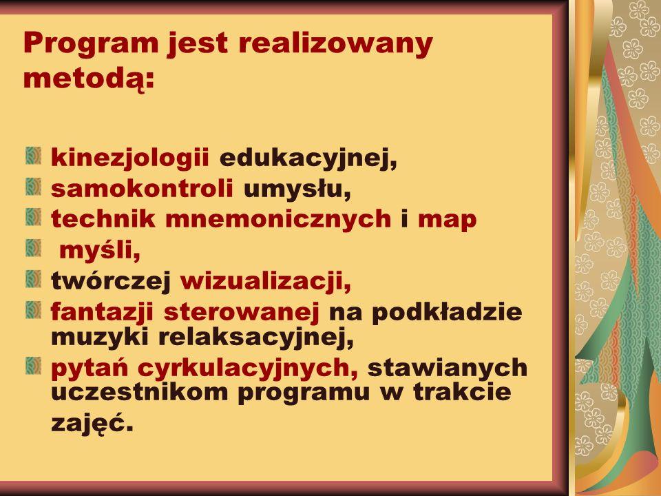 Program jest realizowany metodą: